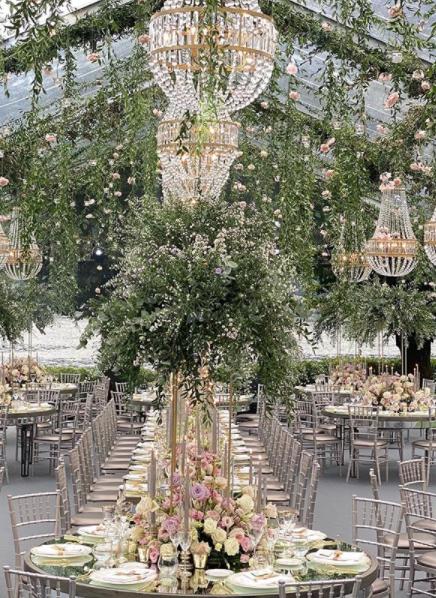 La mise en place del matrimonio di Elettra Lamborghini e Afrojack è stata curata dal Wedding Planner Enzo Miccio