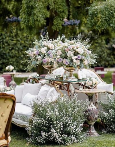 Villa Balbiano allestita per il matrimonio di Elettra Lamborghini e Afrojack