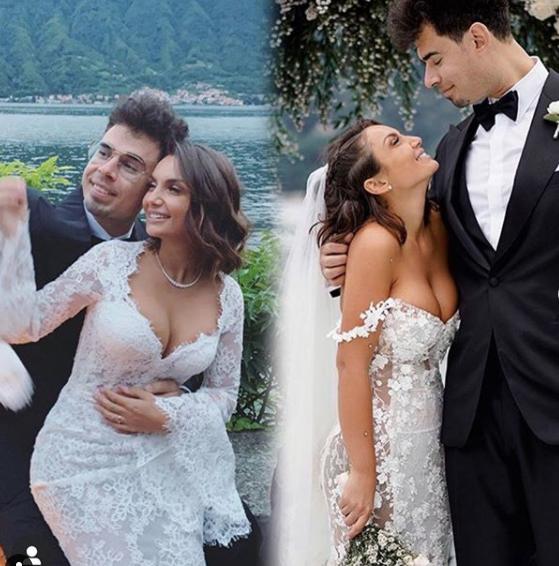 Due dei tre vestiti indossati da Elettra Lamborghini per le sue nozze
