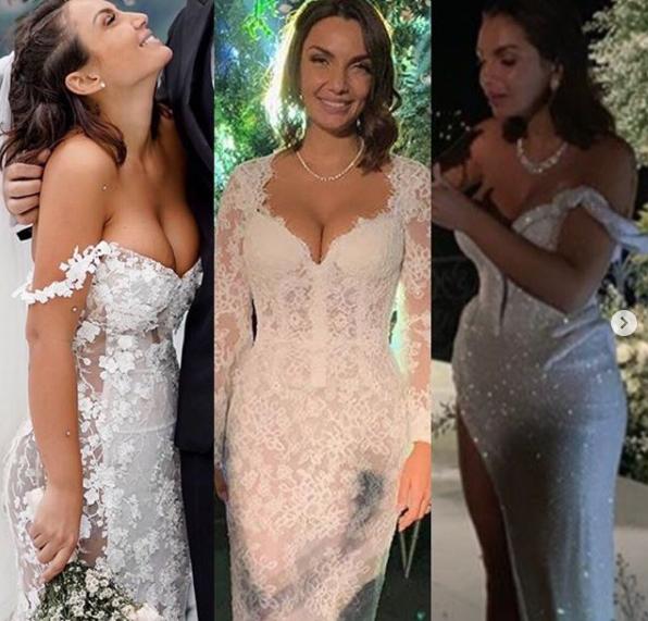 Elettra Lamborghini ha fatto tre cambi di abito da sposa durante il suo matrimonio con Afrojack