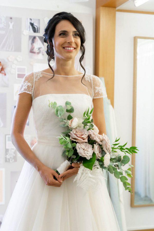 Martina con indosso il suo abito da sposa Couture Hayez
