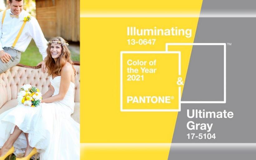 Colore matrimonio 2021: giallo vivace e grigio brillante, a tutto ottimismo!