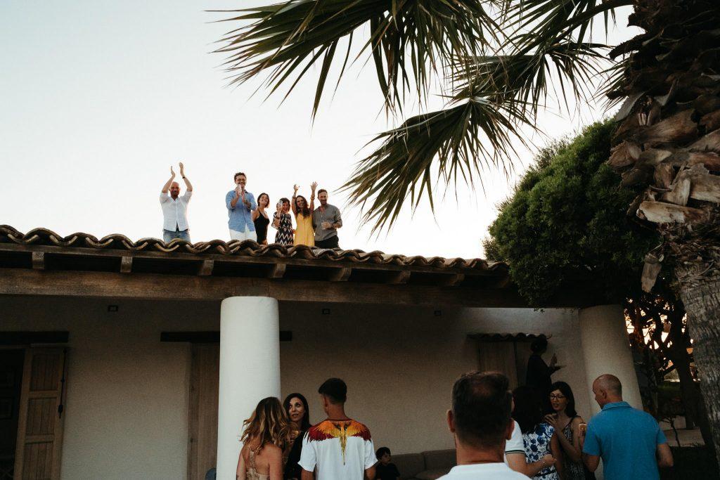 Uno scatto del matrimonio organizzato ad Ustica