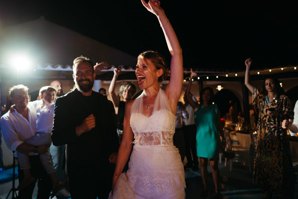 Uno scatto del matrimonio organizzato ad Ustica da Sofia Gangi