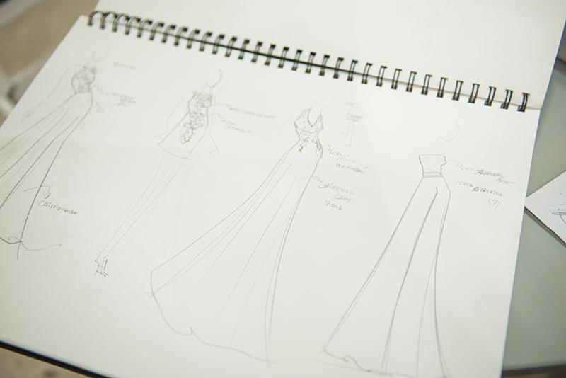 Alcuni modelli di abiti disegnati da Benedetta Passalacqua