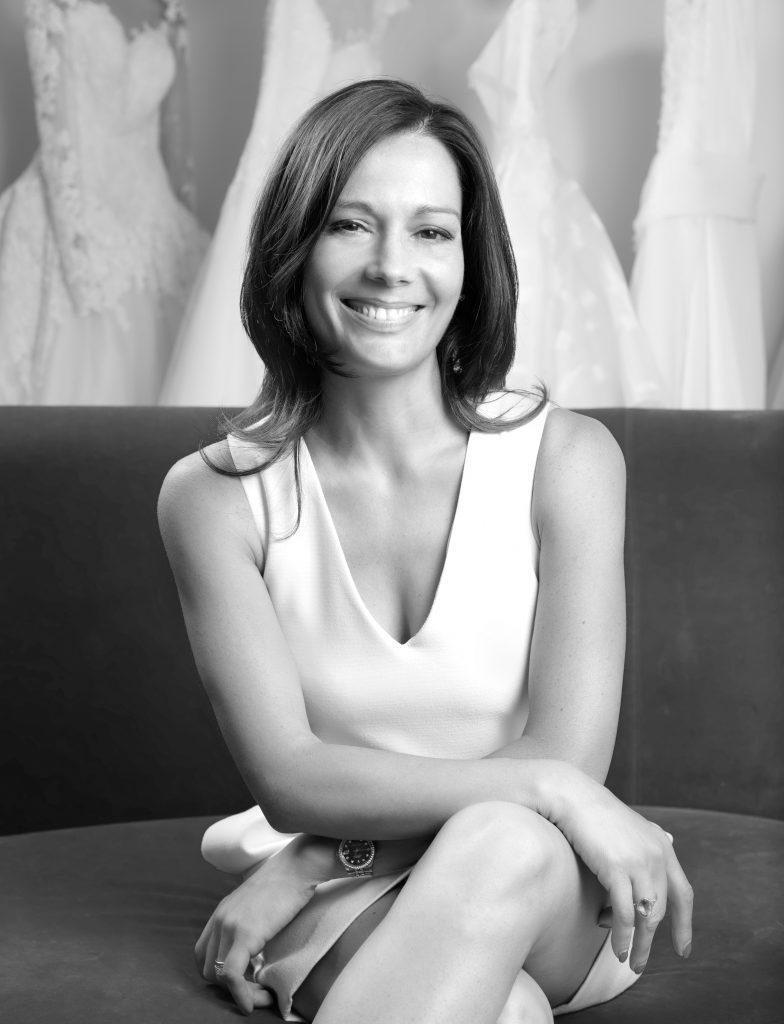 In questa foto la stilista Alessandra Rinaudo, direttore creativo di Pronovias Group