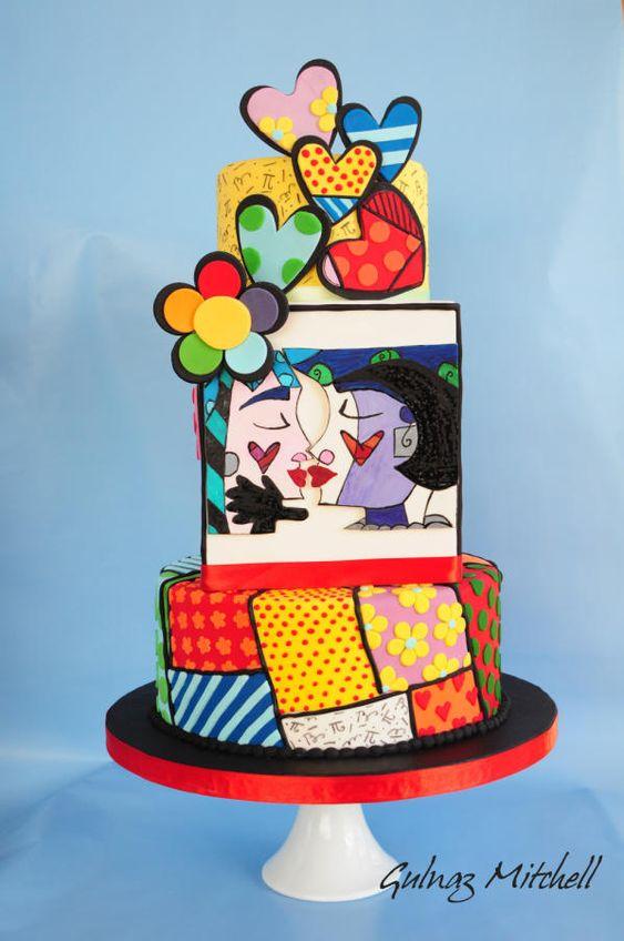 In questa foto una torta in stile Britto, il celebre scultore