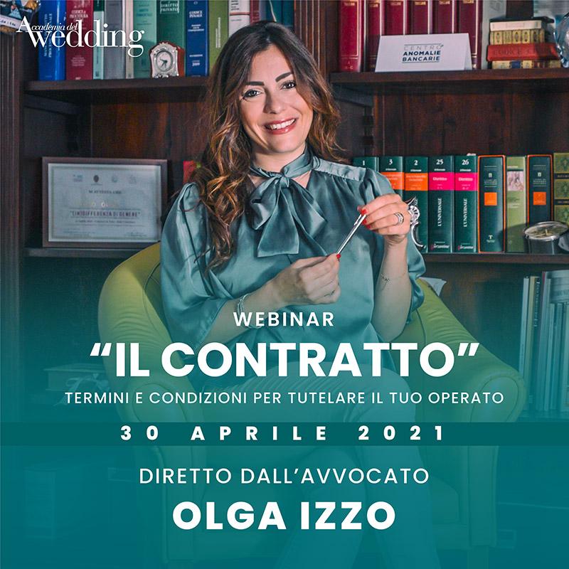 """La presentazione del corso """"Il Contratto"""", uno dei nuovi corsi 2021 Accademia del Wedding"""