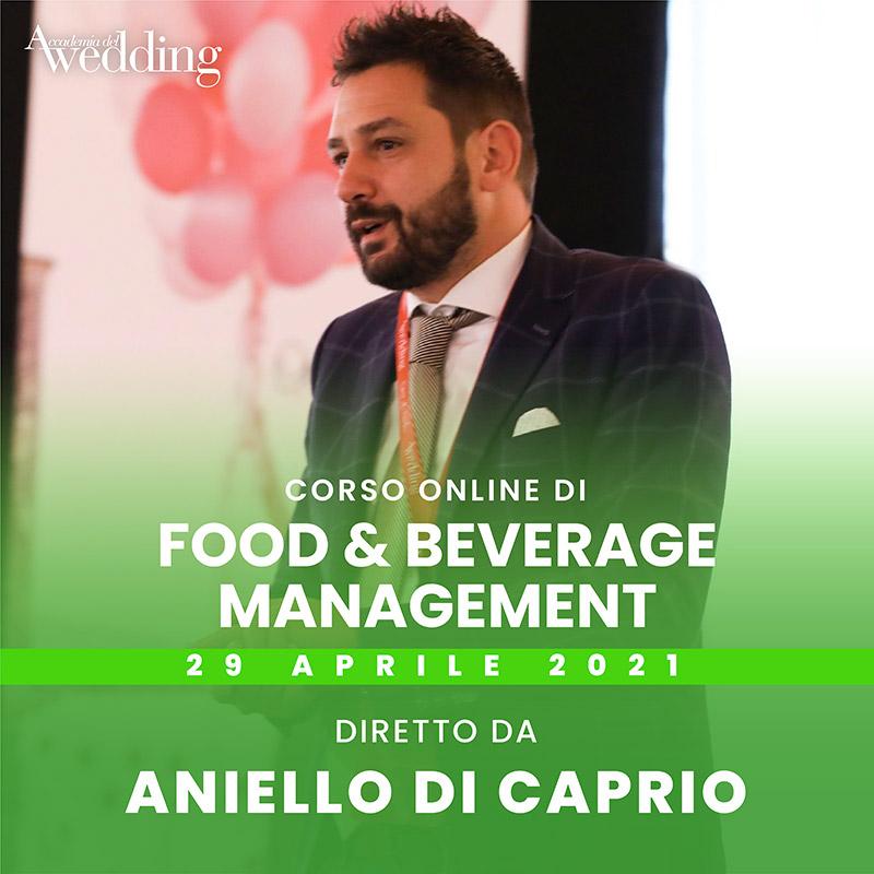 In questa foto la presentazione del corso Food & Beverage Management di Accademia del Wedding