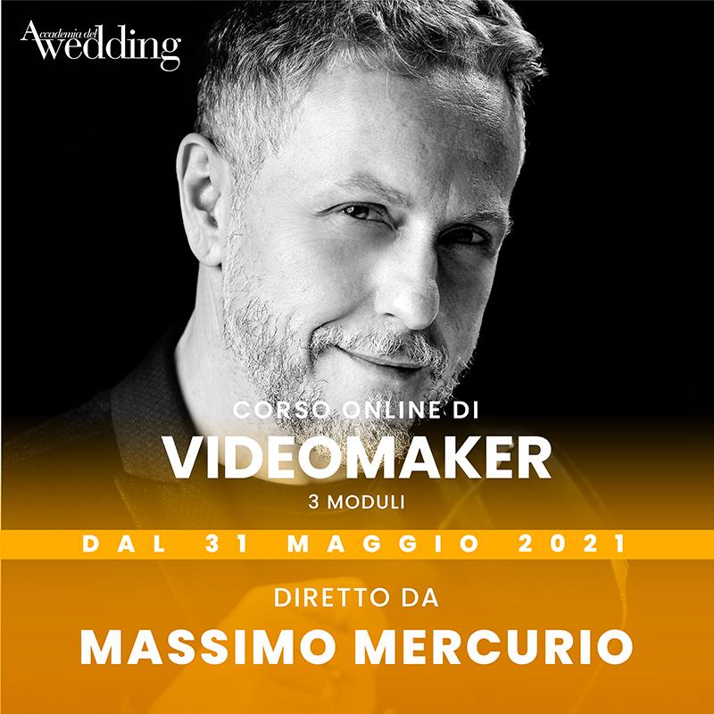 La presentazione del corso di Videomaker, uno dei nuovi corsi 2021 Accademia del Wedding