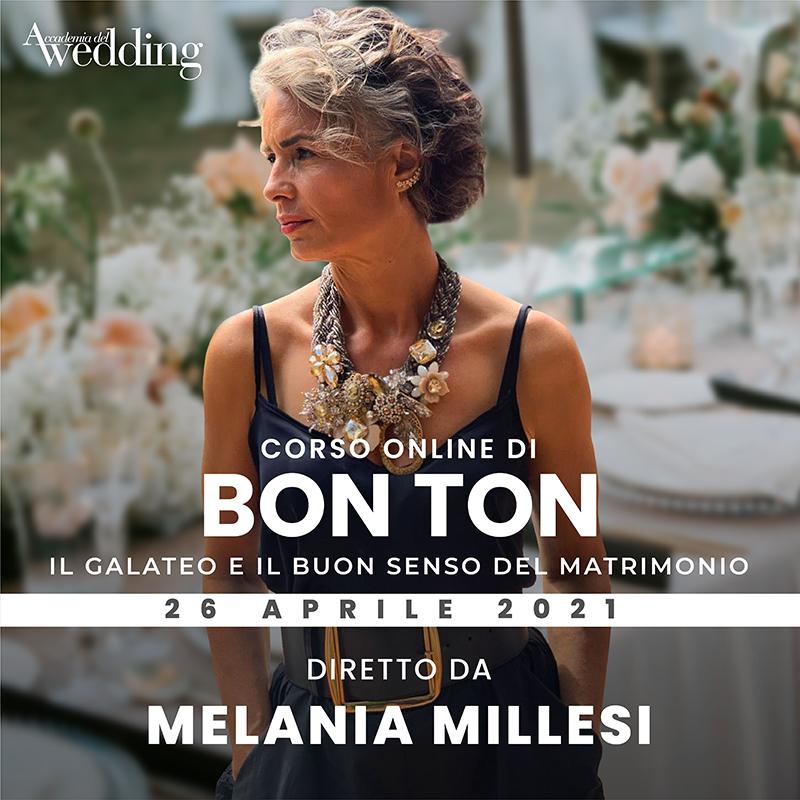 Il corso di Bon Ton con Melania Millesi è tra i nuovi corsi 2021 Accademia del Wedding