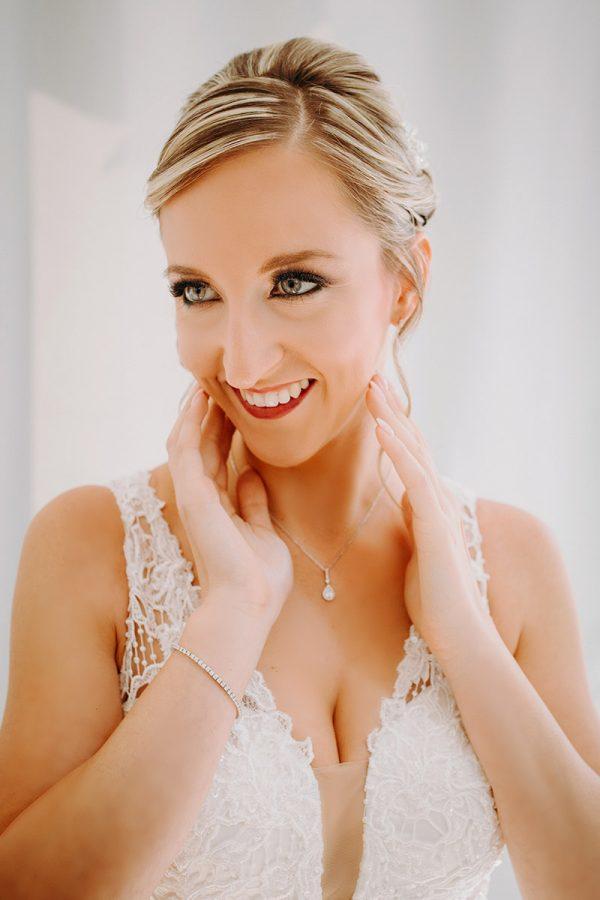 Un foto ritratto della sposa