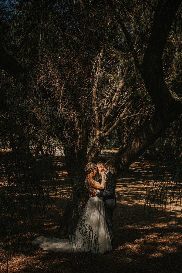 Una foto di matrimonio artistica scattata da Aurora Dimartino Photography