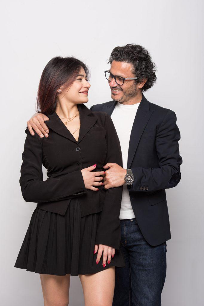 In questa foto Gino Signore con la figlia Camilla Elena.
