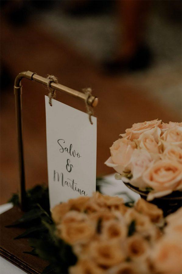 In questa foto un dettaglio della Wedding Stationery del matrimonio di Martina e Salvo