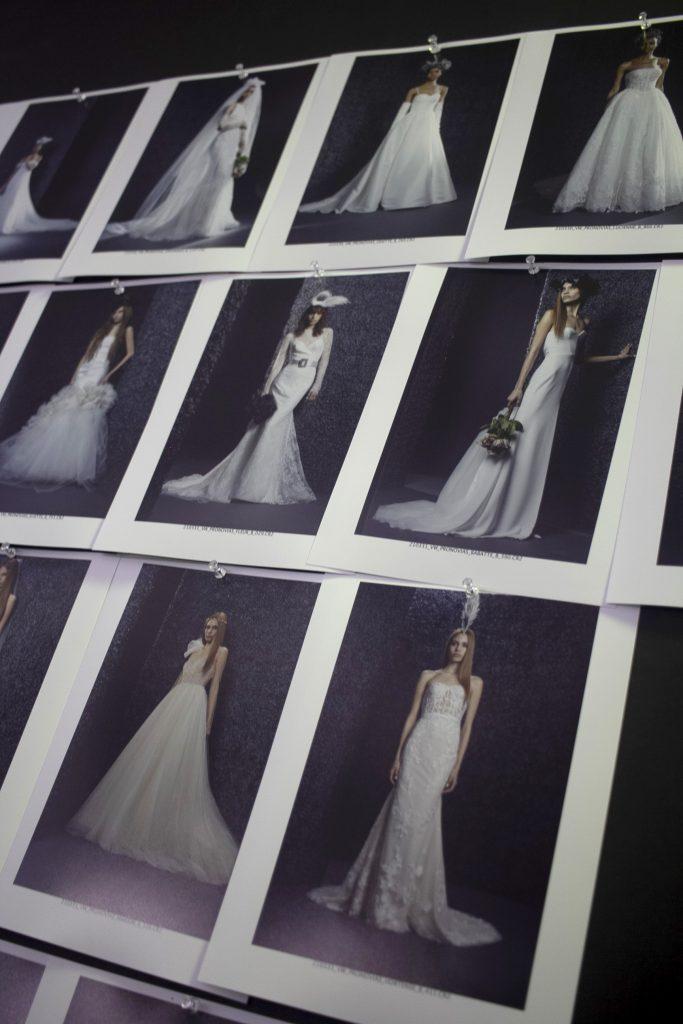 In questa foto una serie di scatti dei nuovi abiti da sposa Vera Wang Bride