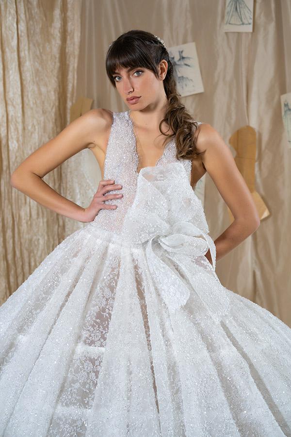 L'importanza del fiocco nella collezione di abiti da sposa Amelia Casablanca 2022