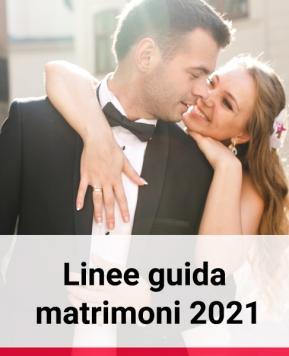 Linee guida per i matrimoni 2021, ecco il protocollo delle Regioni