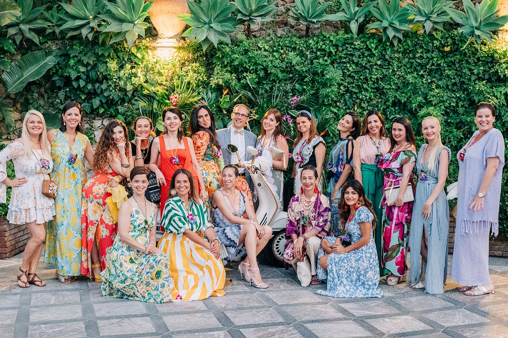 In questa foto di gruppo le Wedding Planner che hanno partecipato a Dreaming of Sicily