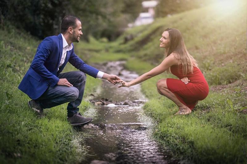 In questa una proposta di matrimonio sul lago organizzata da Paola Maravalle