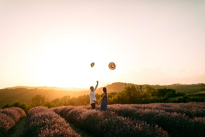 Uno degli scatti del servizio fotografico della proposta di matrimonio di Andrea a Giorgia