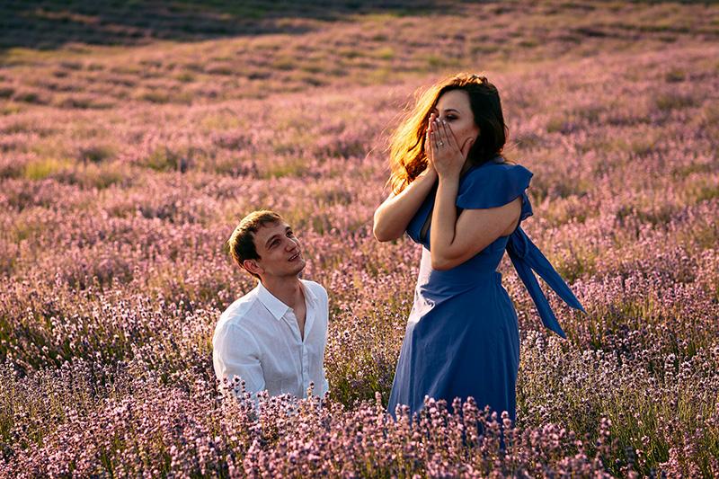 In questa foto il momento in cui Andrea ha fatto la proposta di matrimonio a giorgia