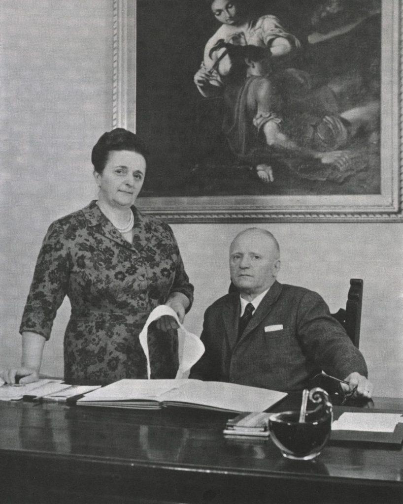 La fondatrice de La Perla, Ada Masotti, con il marito