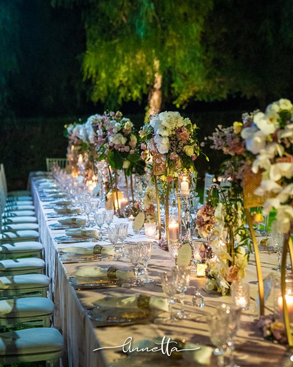 In questa foto una raffinata mise en place curata dalla Wedding Planner Anna Pia Siracusa