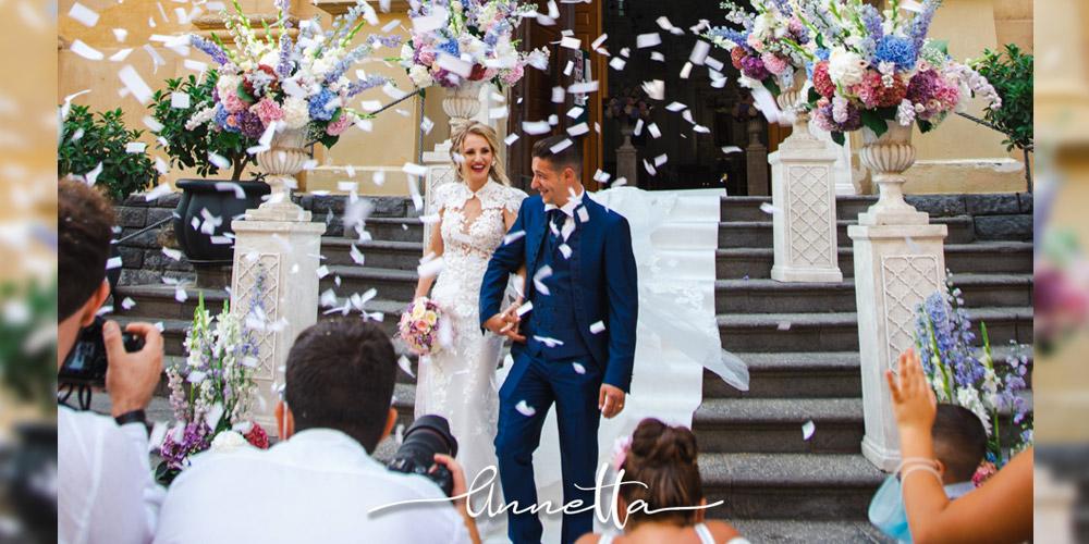 In questa foto delle nozze curate dall'agenzia Annetta diamoci della arie