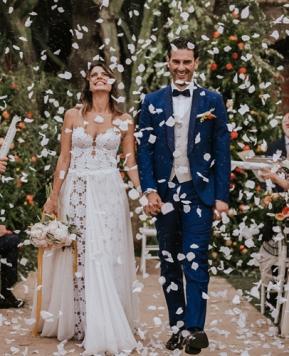 Le nozze di Anna e Francesco firmate da Tania Costantino