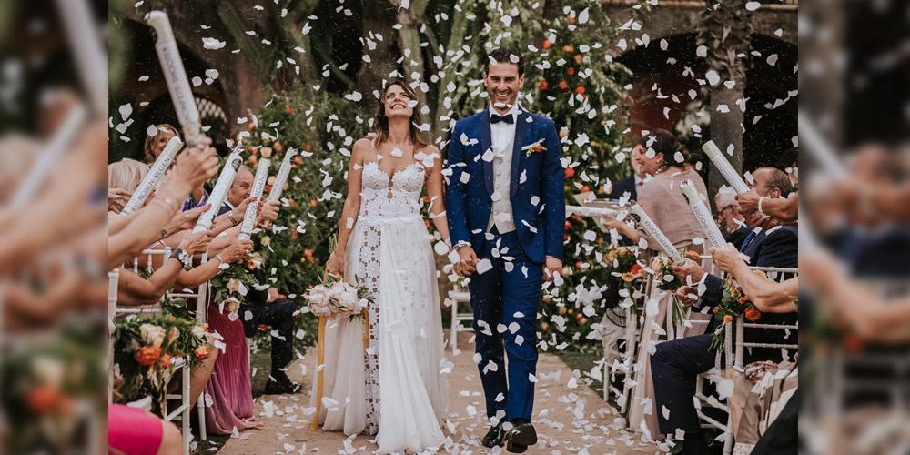 In questa foto la cerimonia simbolica di Anna e Francesco
