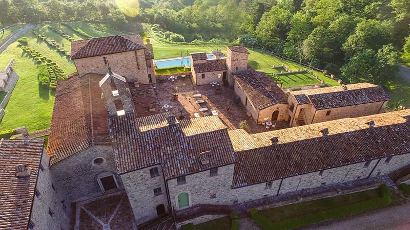 Spao Borgo San Pietro Aquaeortus visto dall'alto