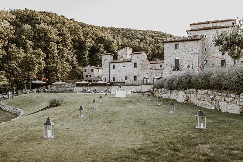 Il cortile di Spao Borgo San Pietro