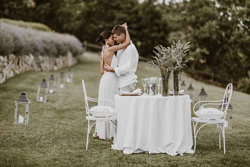 Una coppia di sposi a Spao Borgo San Pietro