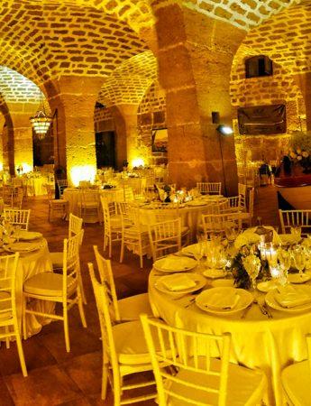 In questa foto una delle sale interne del Castello di Solanto