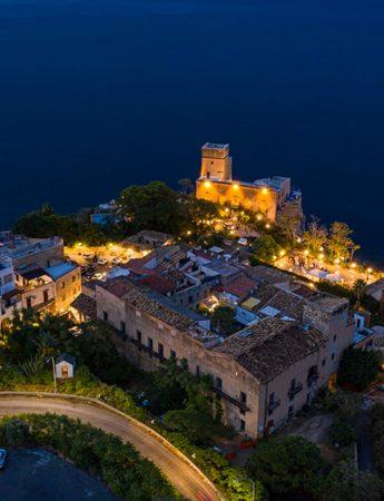 In questa foto il castello di Solanto visto dall'alto