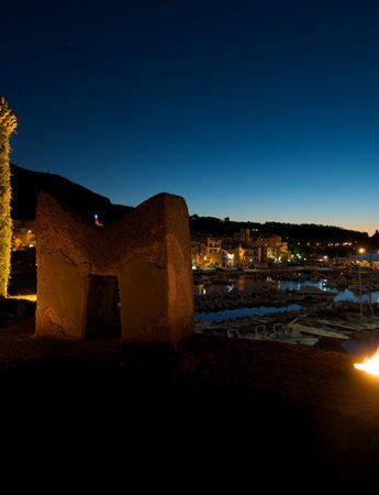 In questa foto lo splendido panorama che si gode dal castello di San Nicola