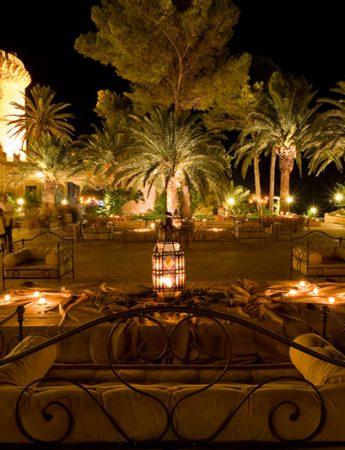 In questa foto un ricevimento serale al Castello di San Nicola