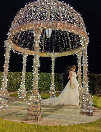 Il gazebo illuminato, dove scattare foto romantiche