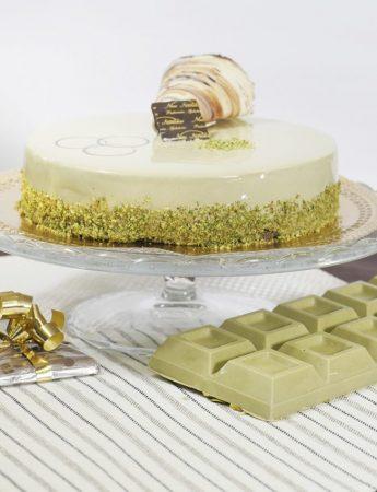 In questa foto la torta al pistacchio di New Paradise Palermo