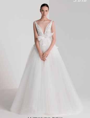 In questa foto un abito da sposa Palermo in tulle di Antonio Riva