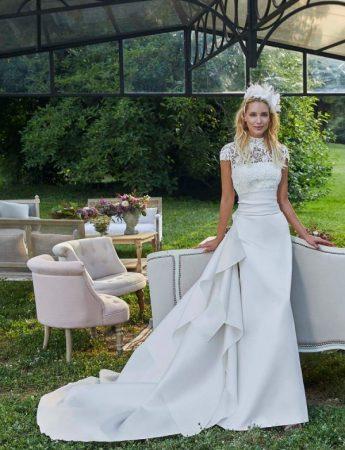 In questa foto un abito da sposa Palermo di Elisabetta Polignano
