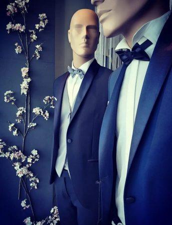 In questa foto degli abiti da sposo disponibili da Piepo Boutique Uomo