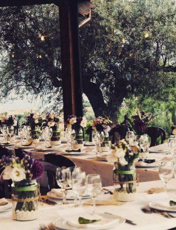 Un tavolo nuziale in stile country chic