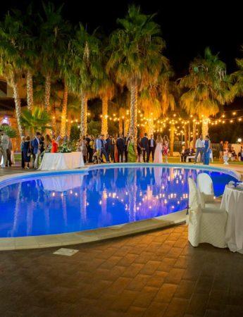 In questa foto la piscina di Baglio Rakali
