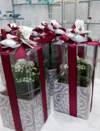 In questa foto un'elegante bomboniera confezionata da Lo Scrigno dei Ricordi, negozio bomboniere Catania