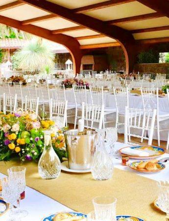 In questa foto un ricevimento di nozze organizzato al Lunario