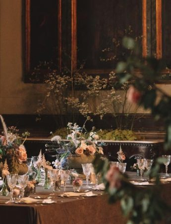 In questa foto una tavola imbandita a Palazzo Biscari