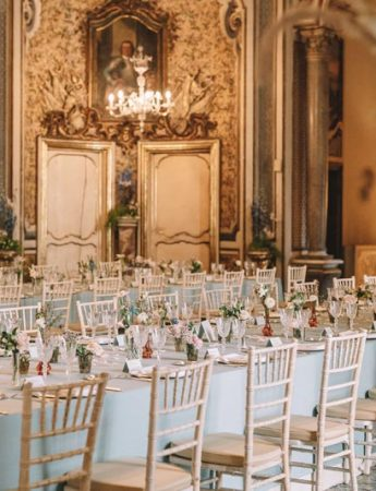 In questa foto un esempio di allestimento per un ricevimento a Palazzo Biscari