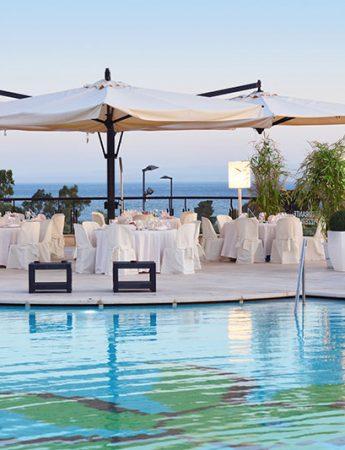 In questa foto la vista sulla bellissima piscina di 4Spa